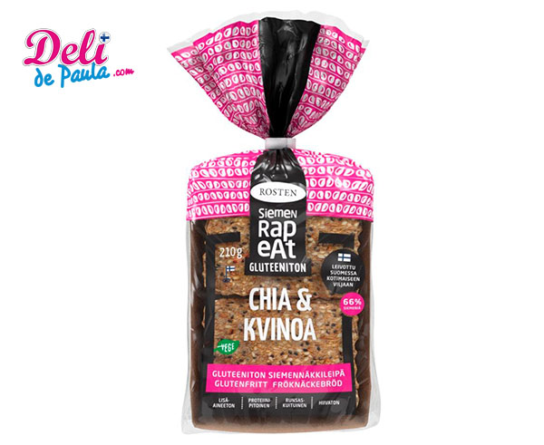 Pan Crujiente de Semillas de Chía y Quinoa - Deli de Paula