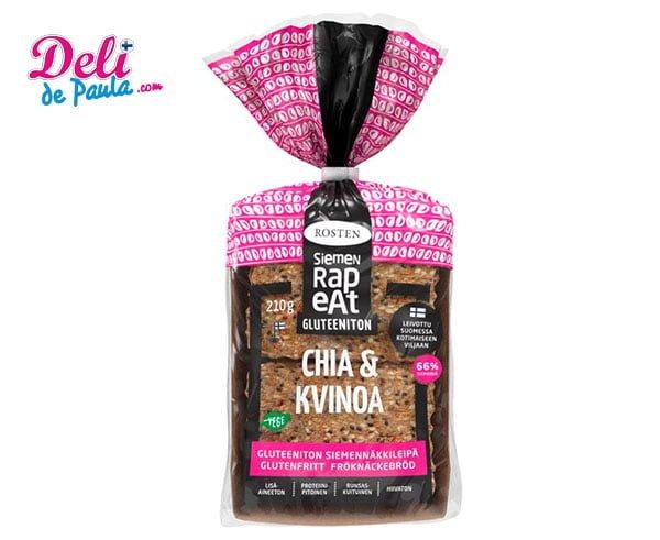 Chia & Quinoa Seed Crispbread - Deli de Paula