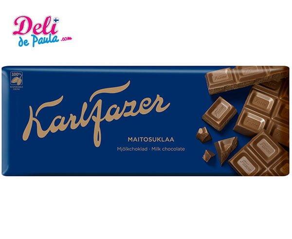 Chocolate con Leche Karl Fazer 200 g - Deli de Paula