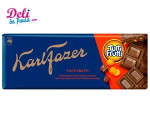 Karl Fazer Tutti Frutti tableta de chocolate 200 g - Deli de Paula