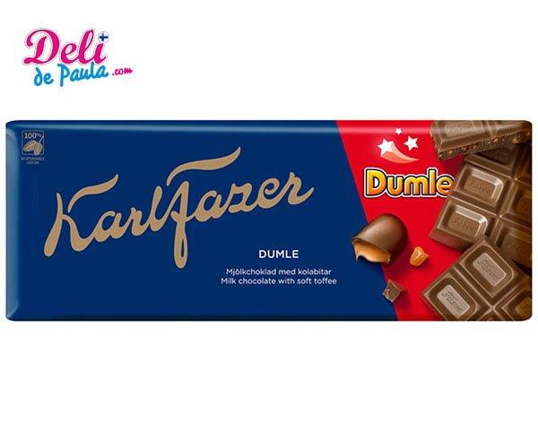 Karl Fazer Dumle tableta de chocolate 200 g - Deli de Paula