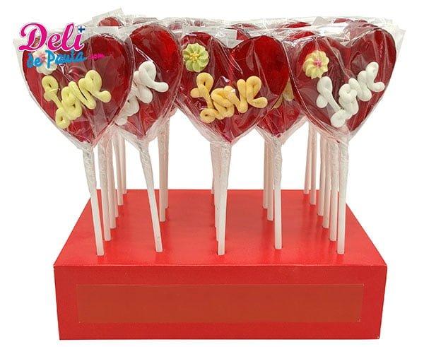 Piruleta de Corazón Love - Deli de Paula for all your Liquorice Ropes