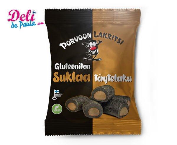Regaliz sin gluten con relleno de chocolate - Deli de Paula