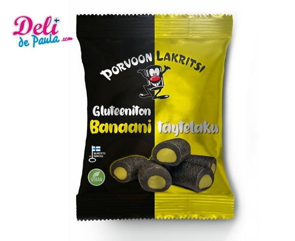Regaliz sin gluten con relleno sabor a banana - Deli de Paula